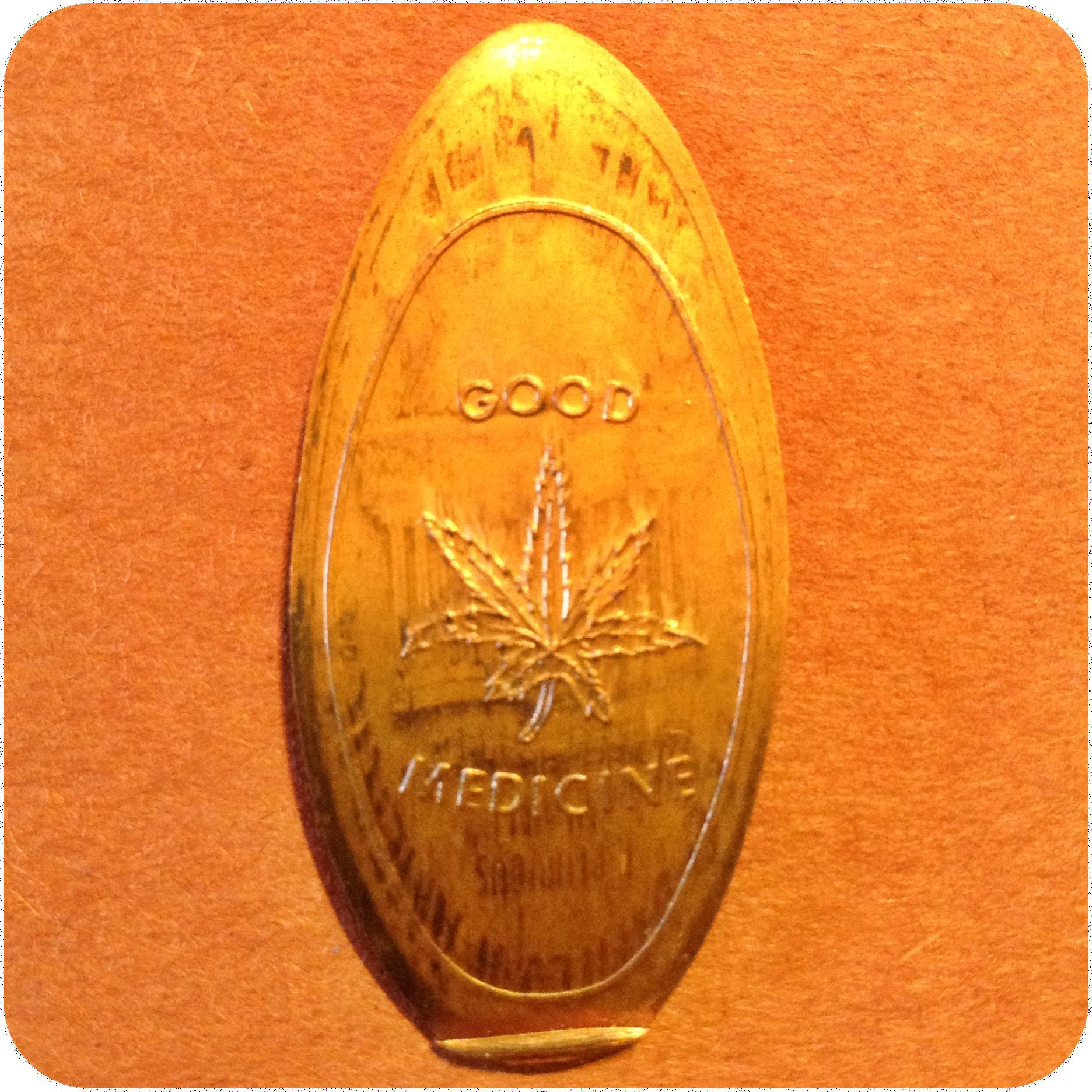 Good Medicine Medical Marijuana Cannabis Weed, Playland Not At The Beach CA Coin