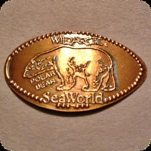 Retired Polar Bear, WildArtic, SeaWorld, San Diego, CA California Elongated Coin