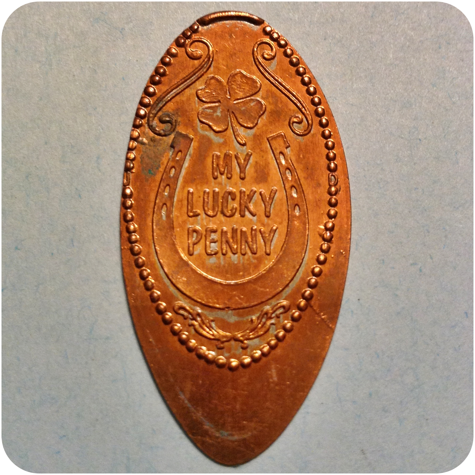 My Lucky Penny, Four Leaf Clover, Rustler's Rooste Restaurant Phoenix AZ Arizona