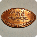Retired Wildarctic Sea World, SeaSide Living Store, San Diego CA California Coin