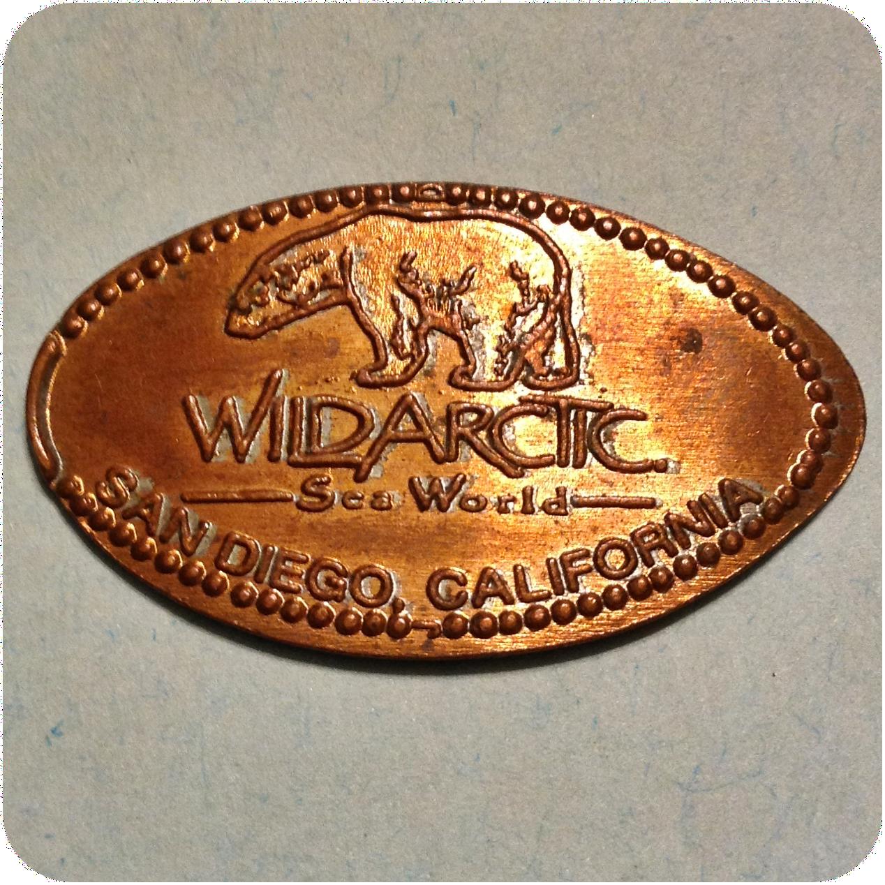 Retired Wildarctic Sea World, SeaSide Living Store, San Diego CA California Coin