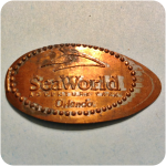 SeaWorld Adventure Park Logo - Sea World in Orlando, FL, Florida Elongated Penny