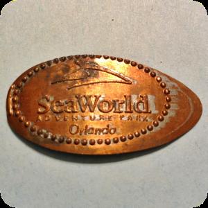 SeaWorld Adventure Park Logo - Sea World in Orlando, FL, Florida Elongated Penny