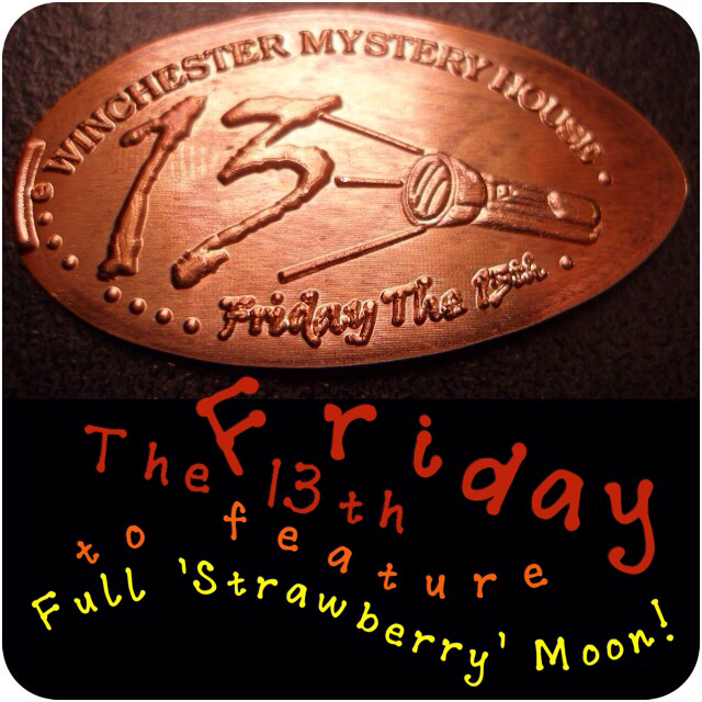 Winchester Mystery House - Friday The 13th Copper Penny