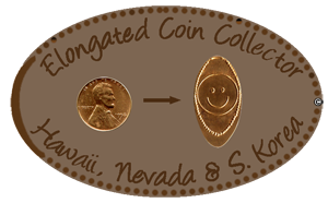 Elongated Coin – Hawaii, Nevada & South Korea