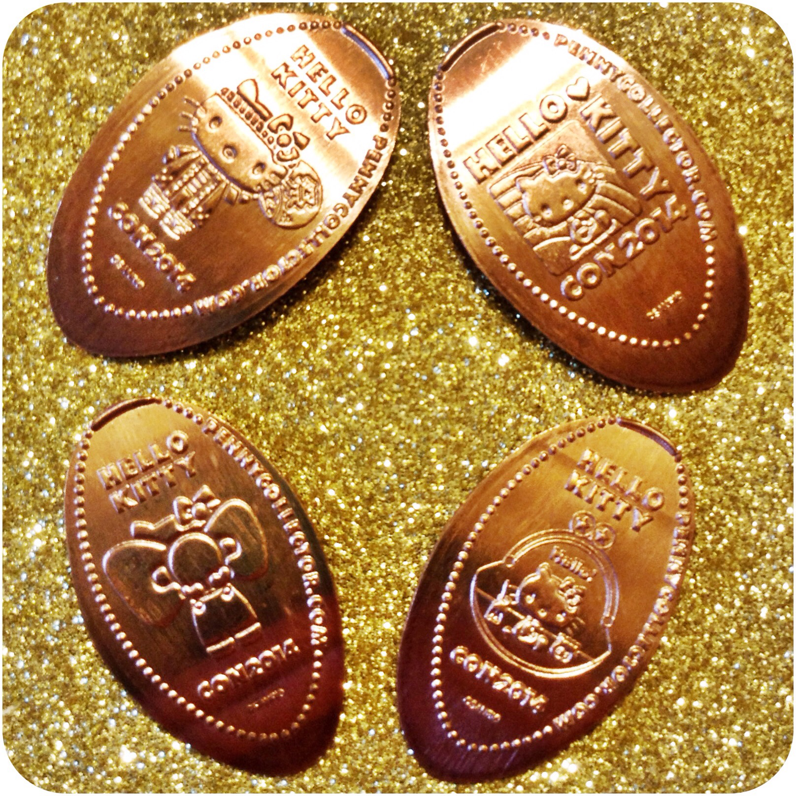 Sold Out Hello Kitty Con 2014 (40th Anniversary) Limited Edition Copper Coin Set