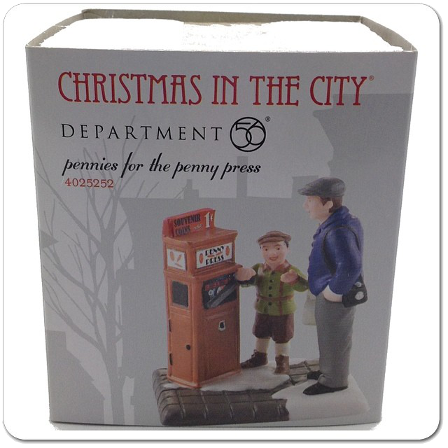 Retired 4025252 Pennies for the Penny Press, Christmas In The City Department 56