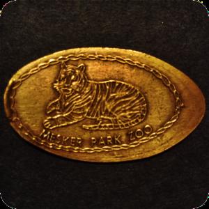Gaia, the Amur Tiger, Mesker Park Zoo & Botanic Garden Evansville Indiana Copper