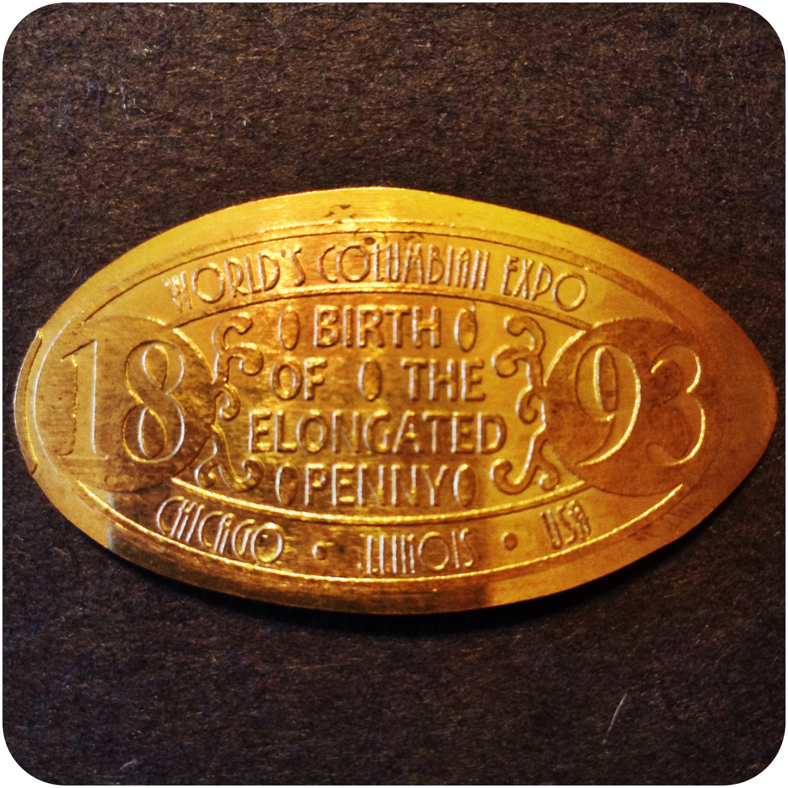 1893, Birth of the Elongated Penny, World's Columbian Expo, Chicago Illinois USA