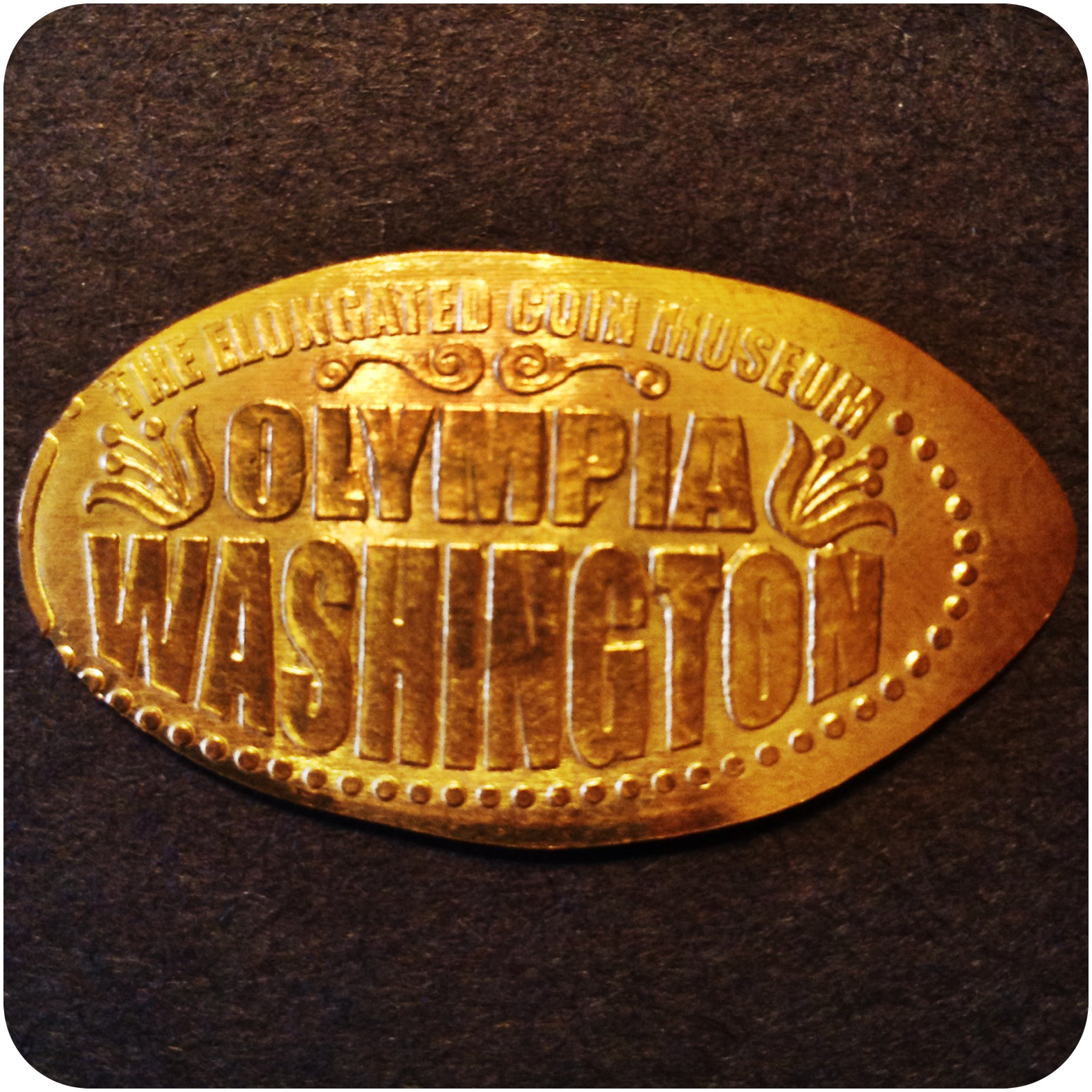 The Virtual Elongated Coin Museum Olympia Washington United States - Design Four