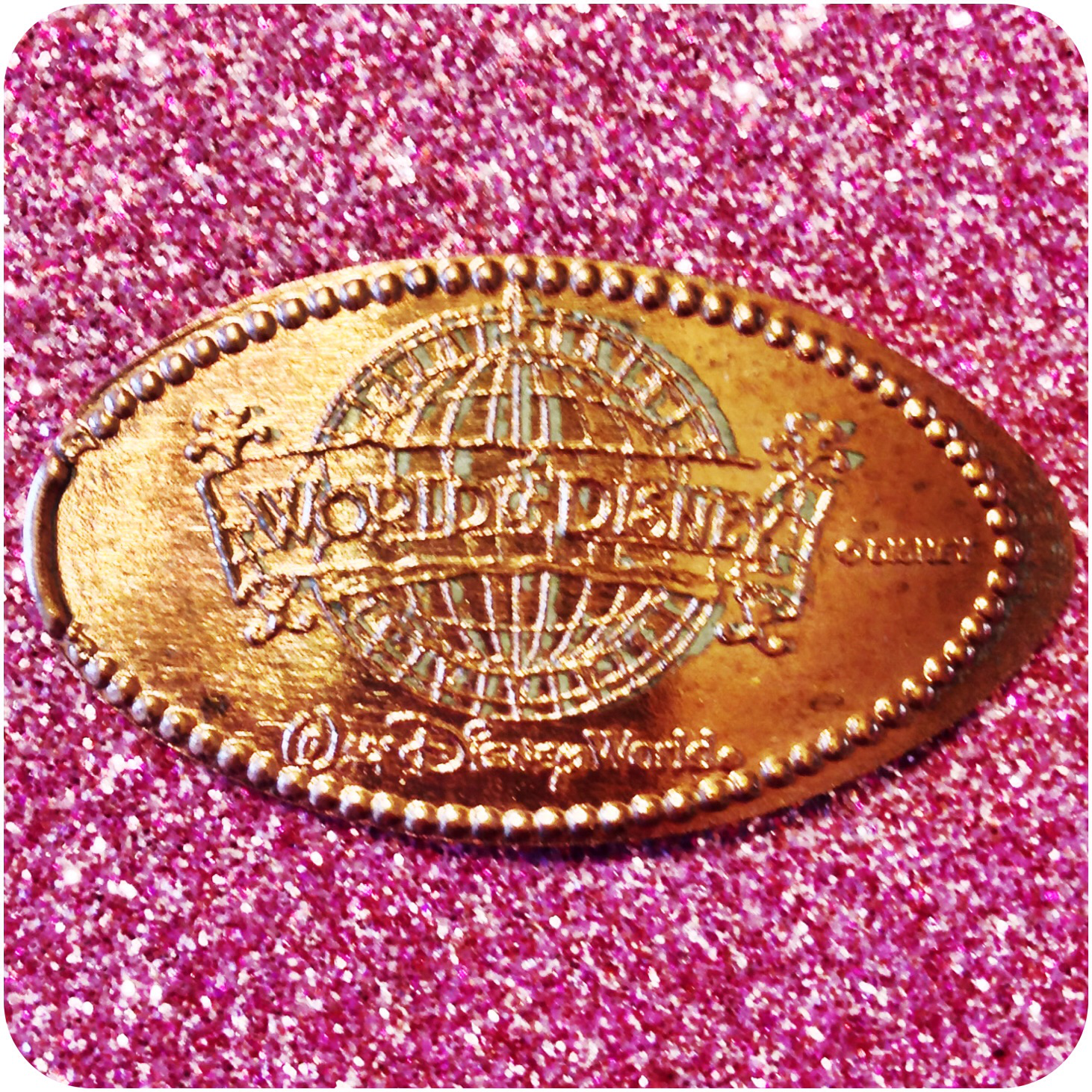 World of Disney Logo, DTD0029, Downtown Disney, Walt Disney World, Florida Penny