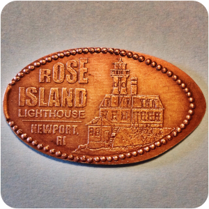 Rose Island Lighthouse - House of Scrimshaw, Newport, Rhode Island Pressed Penny