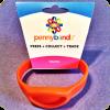 Hot Lava Orange Pennybandz® Elongated Pressed Penny Holder Wristband, Youth Size