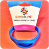 Hot Surfer Blue Pennybandz® Elongated Pressed Penny Holder Wristband, Youth Size