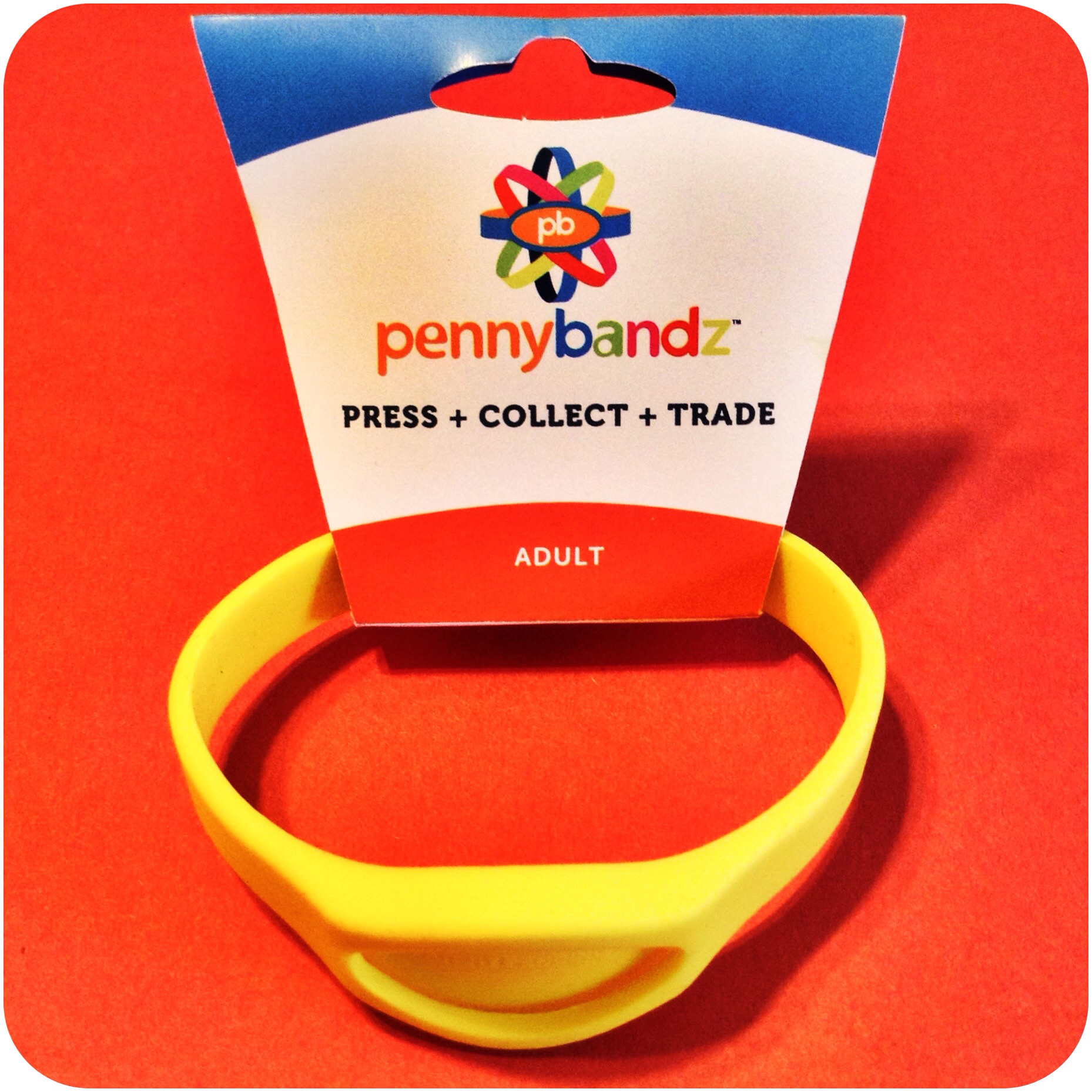 Mac n' Cheese Pennybandz® Elongated Pressed Penny Holder Wristband in Adult Size