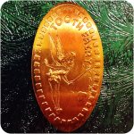 Tooth Fairy Coin - Elongated Copper Penny Engraved by James Kilcoyne in Kentucky