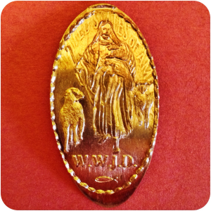 W.W.J.D. What Would Jesus Do? Fish Symbol Evangelical Christianity Religion Coin