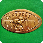 Horse Racing - Food Court, Lexington Center, Lexington, Kentucky Elongated Penny