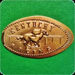 Horse Racing - Food Court, Lexington Center, Lexington, Kentucky Elongated Penny