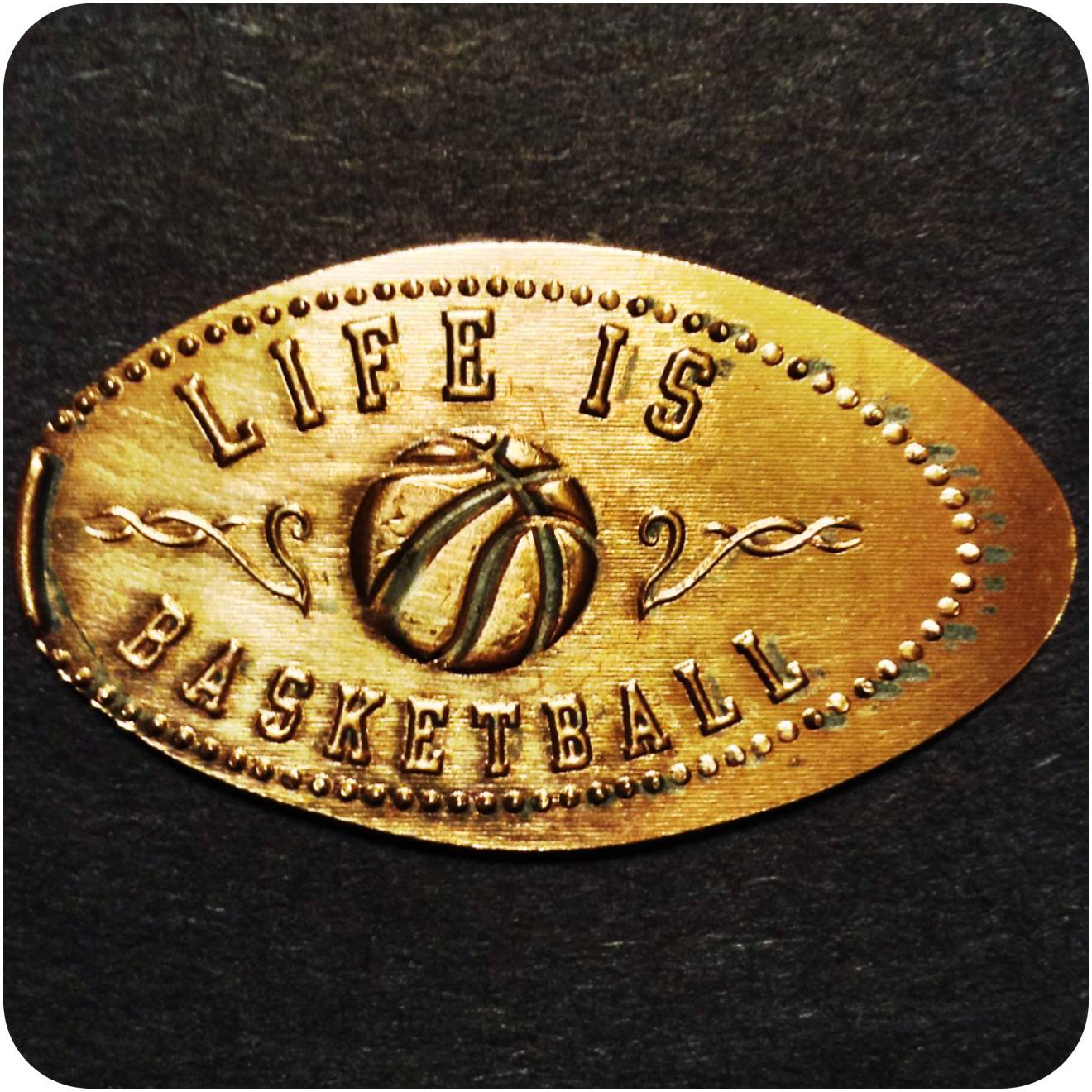 Life is Basketball - Food Court at Lexington Center, KY Kentucky Elongated Penny