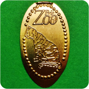 Retired Amur or Siberian Tiger - Erie Zoo, Erie, PA Pennsylvania Elongated Penny